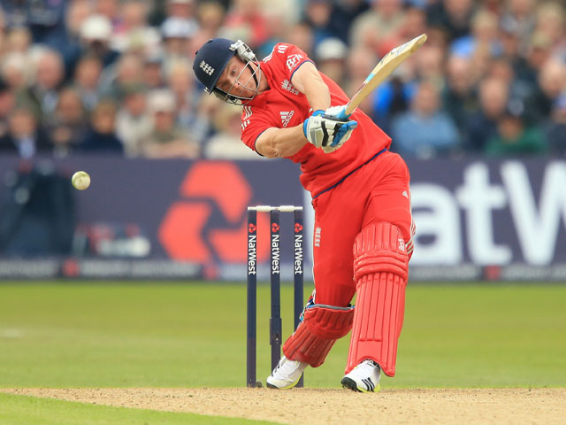 England's Jos Buttler in action during the third ODI against New Zealand on June 5, 2013