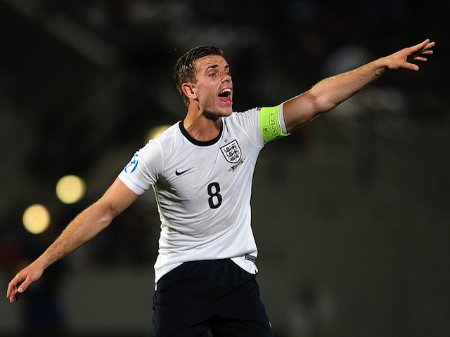 England skipper Jordan Henderson in action against Italy on June 5, 2013