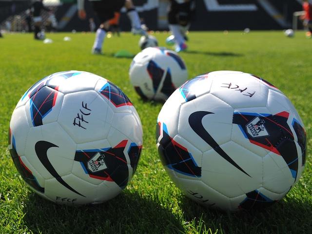 General shot of Premier League footballs