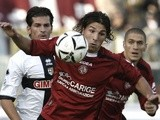 Livorno's Paulinho in action against Parma on November 19, 2006