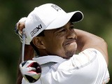 Tiger Woods tees of at the 18th during the second round of the US Open on June 14, 2013