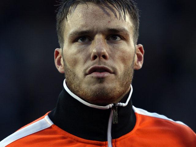 Bram Nuytinck of the Netherlands prior to the Under 21 international against Scotland on February 29, 2012