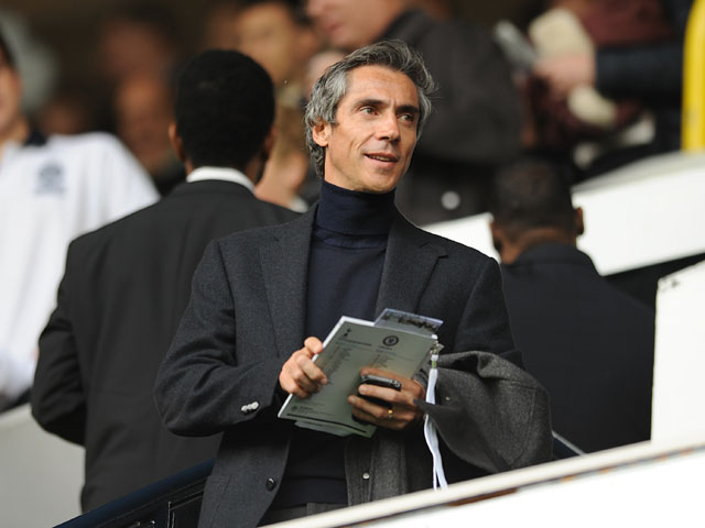 Videoton FC manager Paulo Sousa in the stands to watch Tottenham versus Chelsea on October 20, 2012