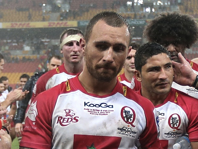 Reds captain Quade Cooper after the game against the British & Irish Lions on June 8, 2013