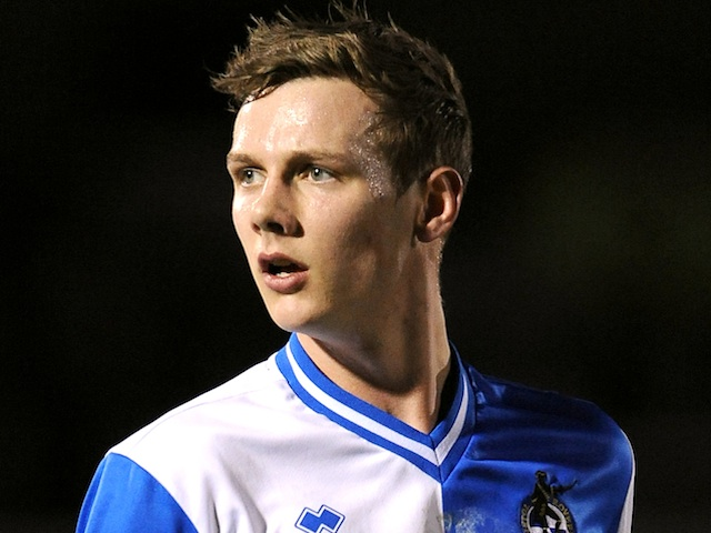 Bristol Rovers' Seanan Clucas in action against Barnet on February 1, 2013