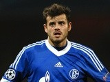 Schalke's Tranquillo Barnetta in action against Arsenal in October 2012