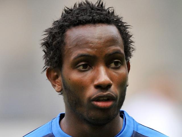 Caen forward Lenny Nangis before a match against Lyon on September 21, 2011