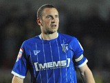 Gillingham's Andy Frampton in action during the match against Burton Albion on March 27, 2012