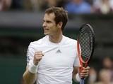 Andy Murray celebrates his win over Benjamin Becker on June 24, 2013