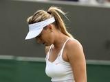 Maria Sharapova during her defeat to Michelle Larcher De Brito on June 26, 2013