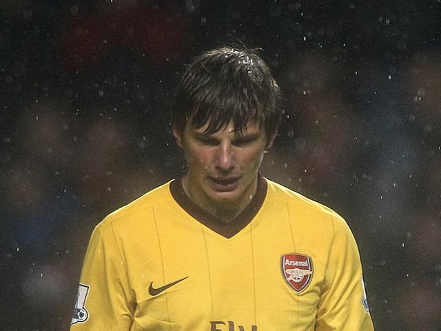Arsenal's Andrey Arshavin against Aston Villa on November 24, 2012