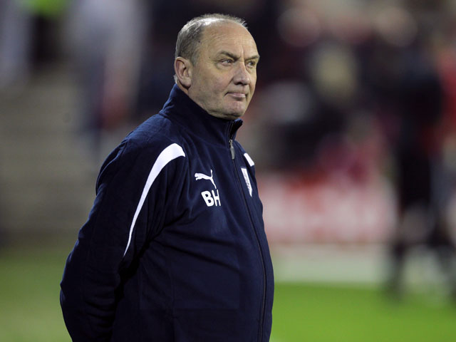 Preston North End assistant manager Brian Horton during the Championship match against Nottingham Forest on February 22, 2011