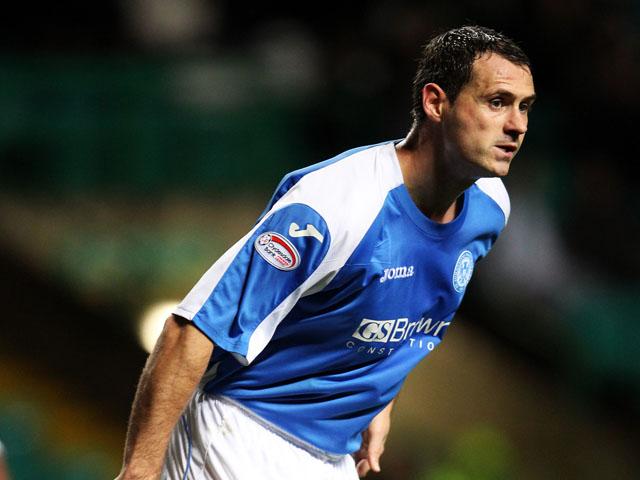 St Johnstone's David McCracken during the match against Celtic on October 30, 2012