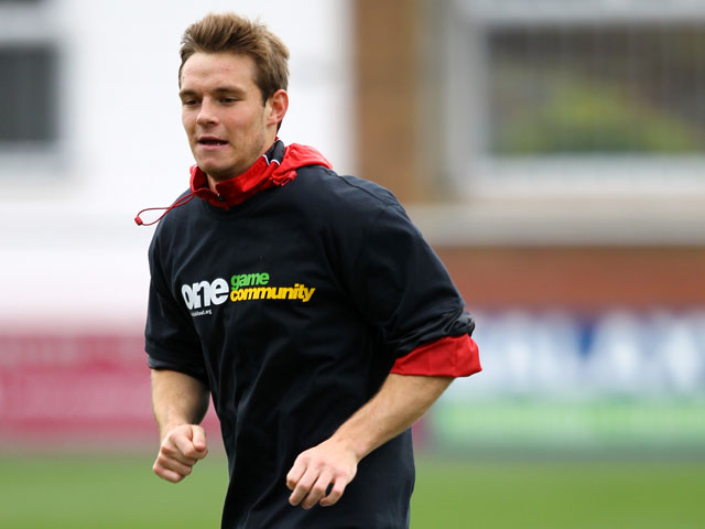 Fleetwood Town's Gerard Kinsella prior to the start of the match against AFC Wimbledon on October 20, 2012