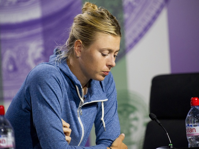 Maria Sharapova looks disappointed after an early exit at Wimbledon on June 26, 2013