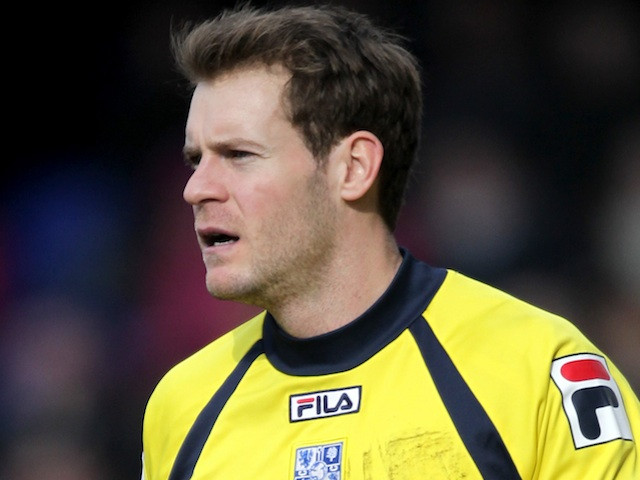 Tranmere 'keeper Owain Fon Williams in action on March 29, 2013