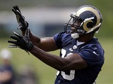 St. Louis Rams tight end Jared Cook catches a pass during a NFL practice session on June 11, 2013