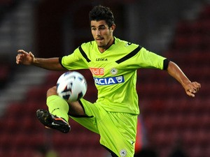 Udinese's Marco Davide Faraoni during a friendly match againsrt Southampton on August 11, 2013