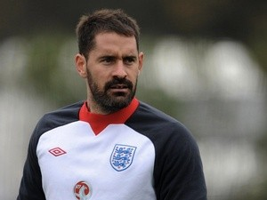 Scott Carson during England training on November 14, 2011