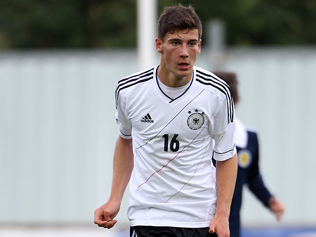 Germany's Leon Goretzka in action on August 14, 2012