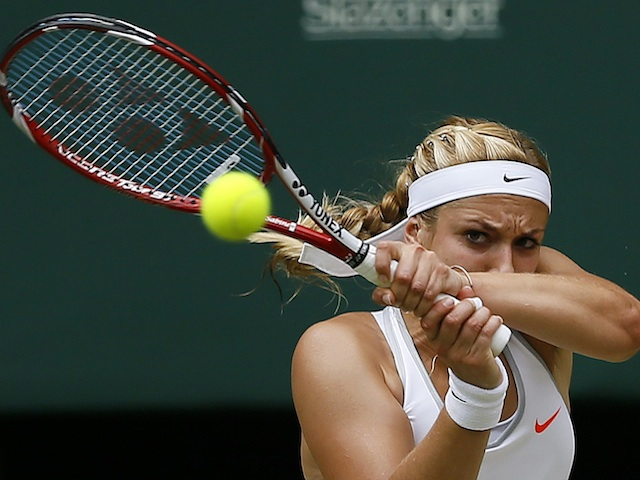 Sabine Lisicki in action during the women's semi-final at Wimbledon on July 4, 2013