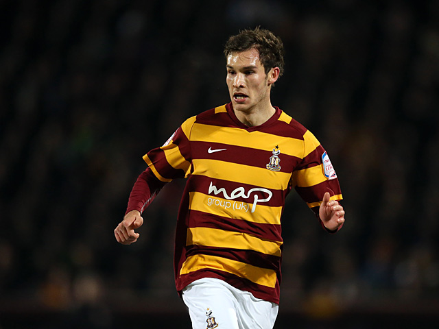 Bradford City's Will Atkinson in action on December 11, 2012