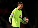Chesterfield goalkeeper Richard O'Donnell in action on October 9, 2012