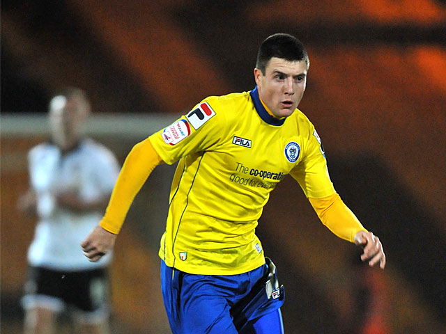 Rochdale's Bobby Grant in action on November 6, 2012
