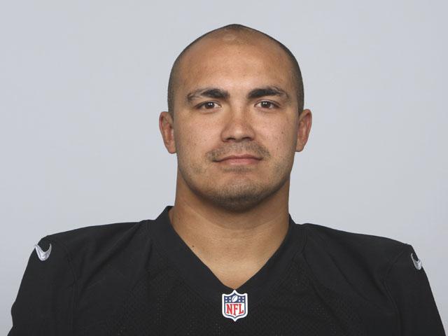 Oakland Raiders linebacker Kaluka Maiava poses for a photo on June 10, 2013