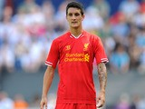 Liverpool's Luis Alberto during a friendly against Preston North End on June 13, 2013
