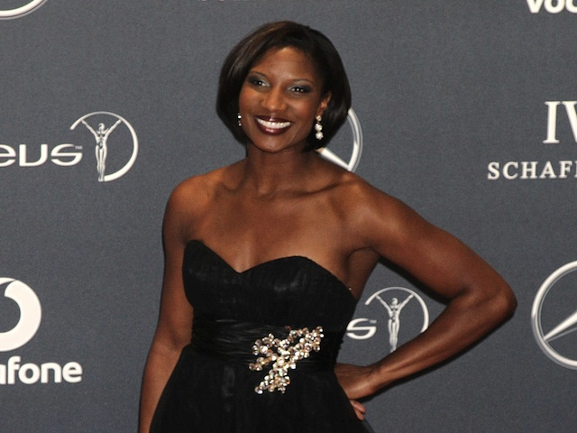 Former athlete Denise Lewis at an awards ceremony on February 6, 2013