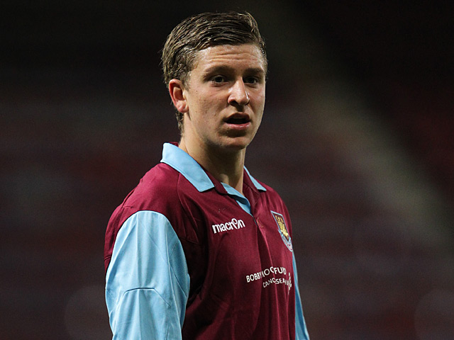 West Ham's George Moncur in action on January 19, 2011