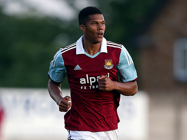 West Ham's Jordan Spence in action on July 10, 2013