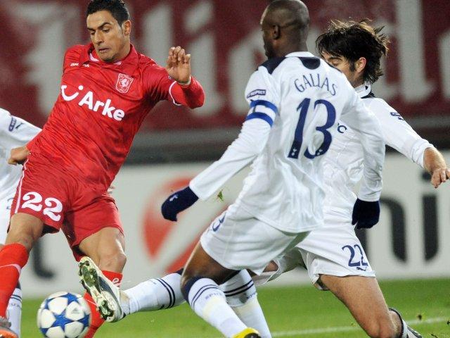 Nacer Chadli in action against Tottenham Hotspur.