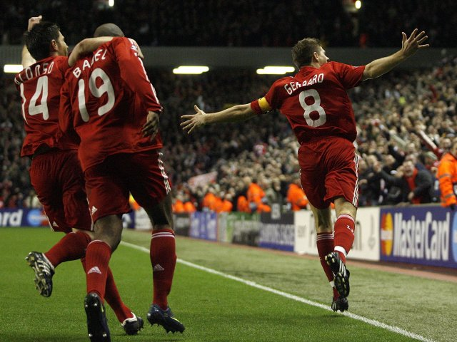 A famous night at Anfield in 2009 as Liverpool beat Real Madrid 4-0, with Gerrard scoring twice.