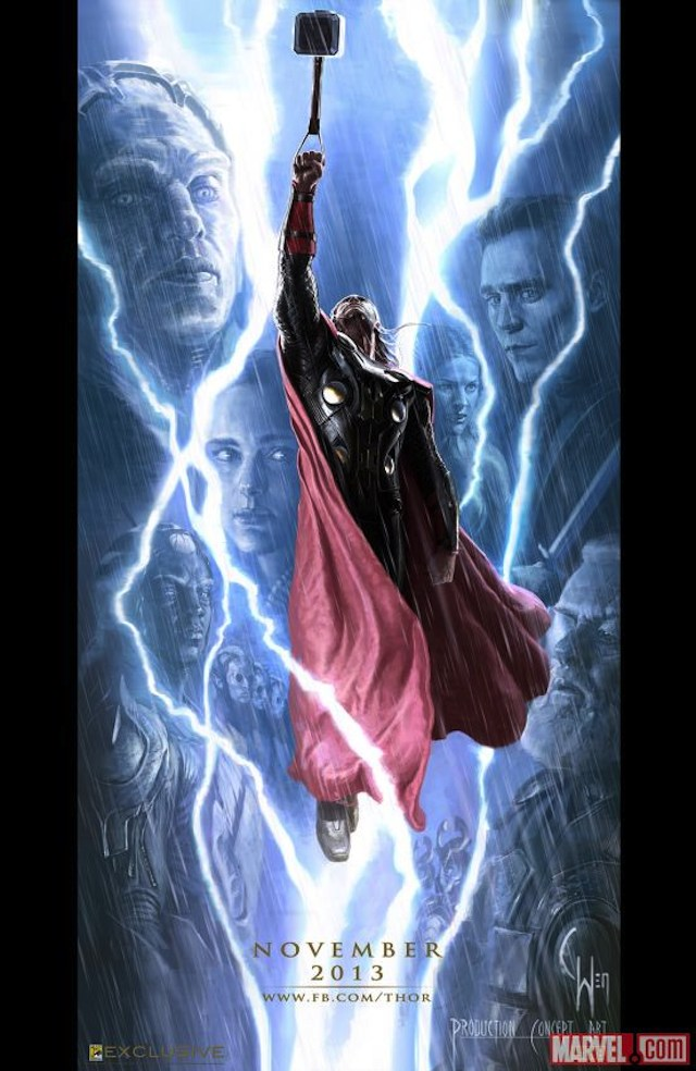 Comic-Con poster for Thor The Dark World (640w)