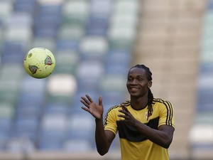 Angola's Manucho during a training session on January 22, 2013