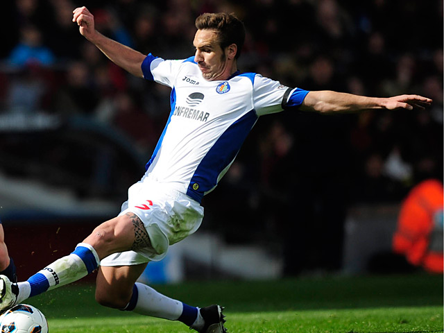 Getafe's Alberto Lopo in action on February 10, 2013