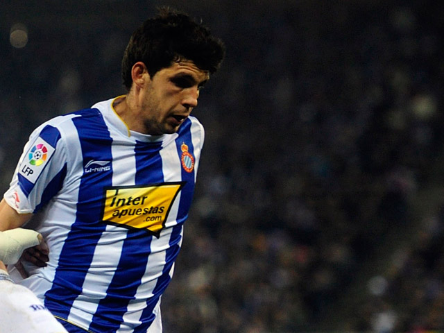 Espanyol's Javi Lopez in action on February 13, 2011