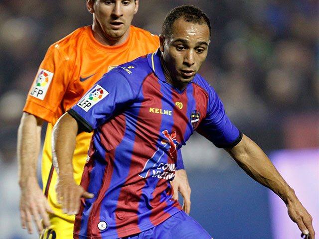 Levante's Nabil El Zhar in action on November 25, 2012