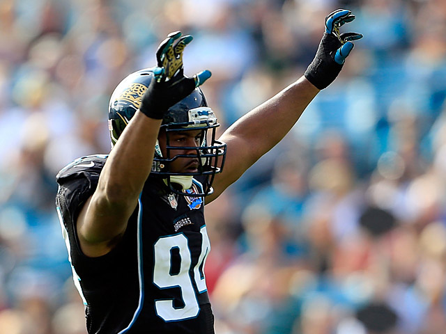 Jacksonville Jaguars' Jeremy Mincey in action on December 9, 2012