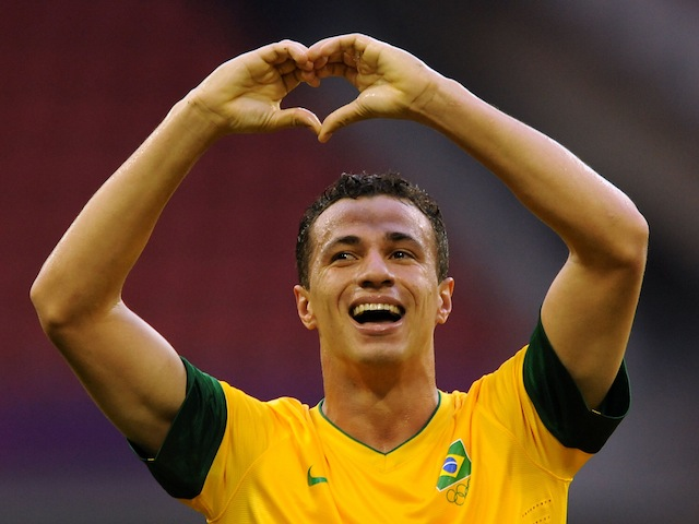 Brazil striker Leandro Damiao on July 26, 2012