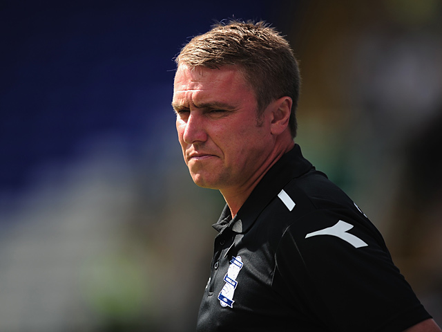Birmingham manager Lee Clark looks on during the match against Watford on August 3, 2013
