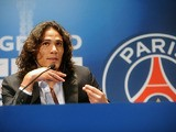 Paris Saint-Germain's Edinson Cavani attends a press conference on July 16, 2013