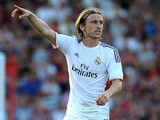 Luka Modric of Real Madrid during the pre season friendly match between Bournemouth and Real Madrid at Goldsands Stadium on July 21, 2013