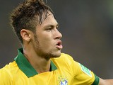 Brazil's Neymar celebrates his goal against Spain during the Confederations Cup on June 30, 2013