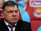 West Ham United manager Sam Allardyce looks during the Barclays Premier League match between West Ham United and Reading at the Boleyn Ground on May 19, 2013