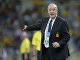 Spain's coach Vicente del Bosque during the Confederations Cup against Italy on June 27, 2013