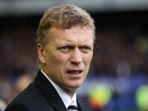 David Moyes pictured during a game with Liverpool on October 30, 2010
