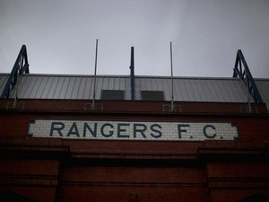 A general view of Ibrox Stadium home of Glasgow Rangers FC on February 14, 2012